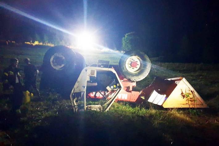 Landwirtschaftlicher Unfall in Eberdorf