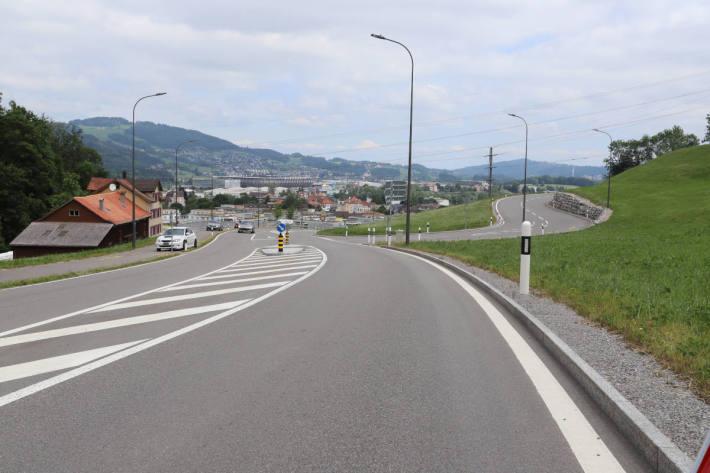 Unfallstelle in St.Gallen