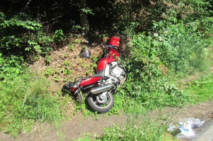 Das Motorrad erlitt in Velbert einen Totalschaden