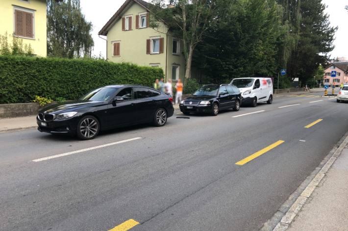 In Wittenbach SG kam es heute zu einer Auffahrkollision.