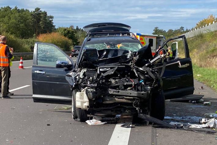 4 Verletzte bei Verkehrsunfall auf der Autobahn