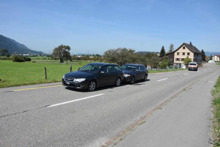 Verkehrsunfall zwischen zwei Autos