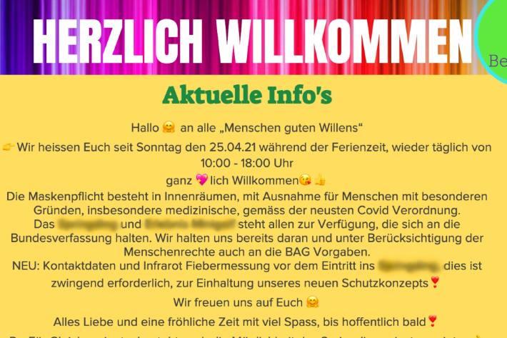 Zur Freude der Kindern ist das Kinderparadies in Reichenburg SZ wieder offen.