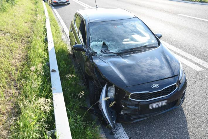 In Kriessern SG kam es gestern auf der Autobahn zu einer Kollision.