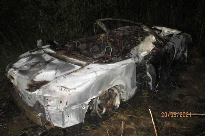 In Frechen ist ein Mazda ausgebrannt