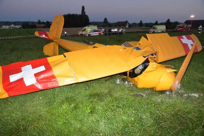 Kleinflugzeug in Subingen abgestürzt
