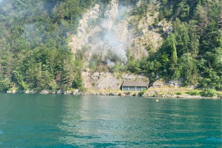 In Emmetten brannte es gestern im Bereich Risleten.