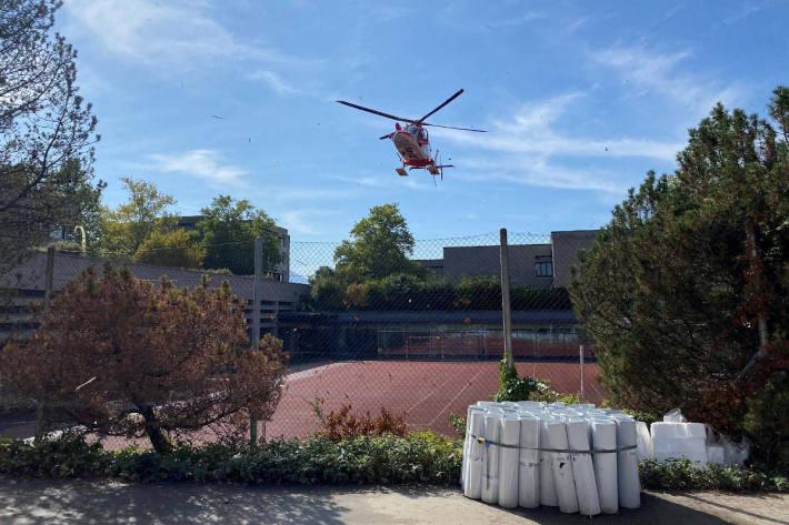 Rettungshelikoptereinsatz nach Selbstunfall in Zug