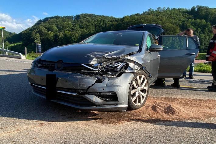Beim Unfall gestern in Läufelfingen BL verletzte sich eine Person.