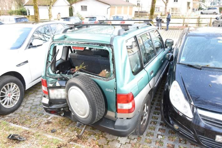 Beim Unfall in Altstätten SG drückte die Frau wohl zu stark aufs Gaspedal.
