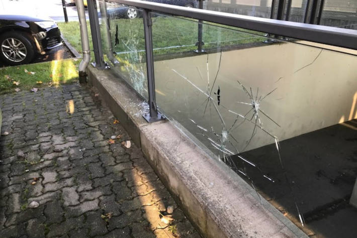 Vandalismus beim Bahnhof Nenzing