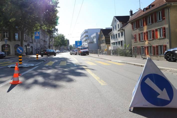 Frontalkollision Rorschacher Strasse in St. Gallen