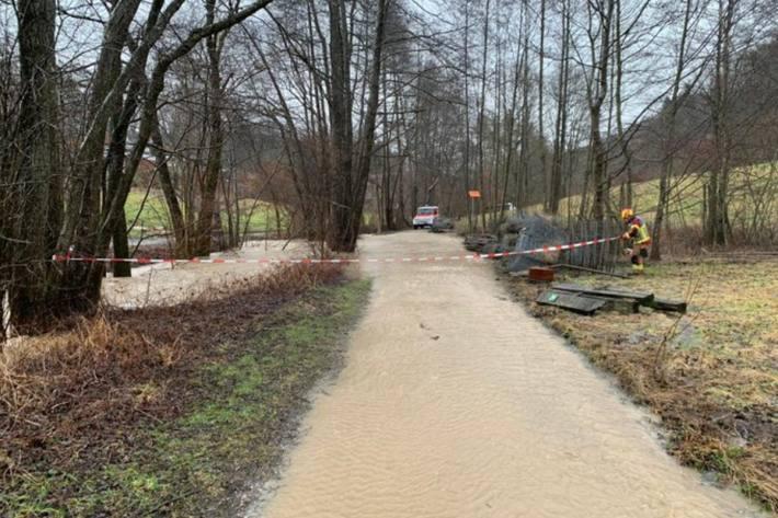 In Bern führen die starken Regenfälle zu Überschwemmungen