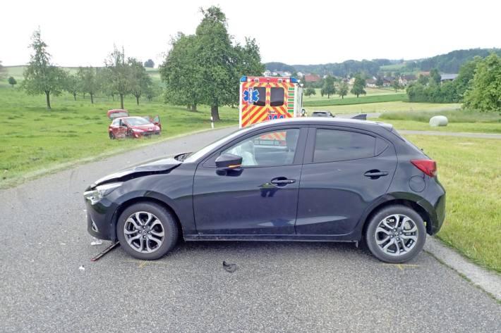 In Mettlen TG kam es heute zu einem Unfall.