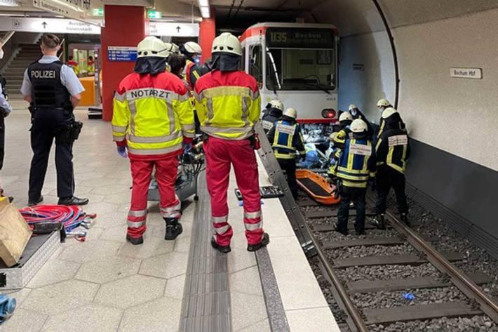 Tödlicher Unfall im U-Bahnbereich des Hauptbahnhof Bochum