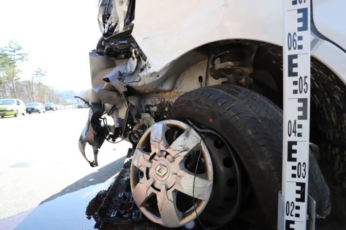In St. Gallen gab es gestern einen Verkehrsunfall mit hohem Sachschaden.