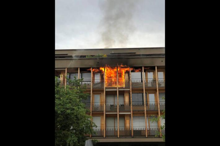 Evakuation wegen Wohnungsbrand in Chur