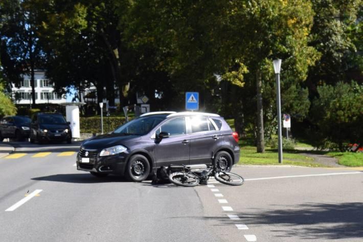 In Heiden AR kam es gestern zu einem Unfall.