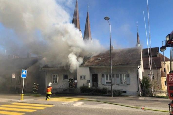 Unbewohntes Einfamilienhaus brennt ein zweites Mal in Olten