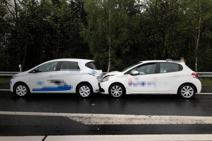 Unfallsituation auf der A13 bei Sennwald