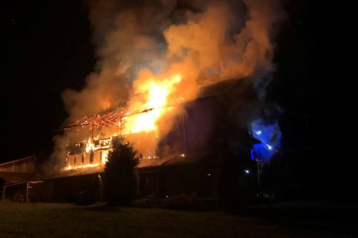 In Steffisburg BE wurde das Haus ein Opfer der Flammen.