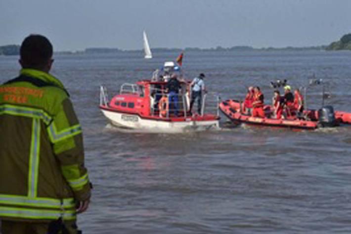 Rettungsboote im Einsatz