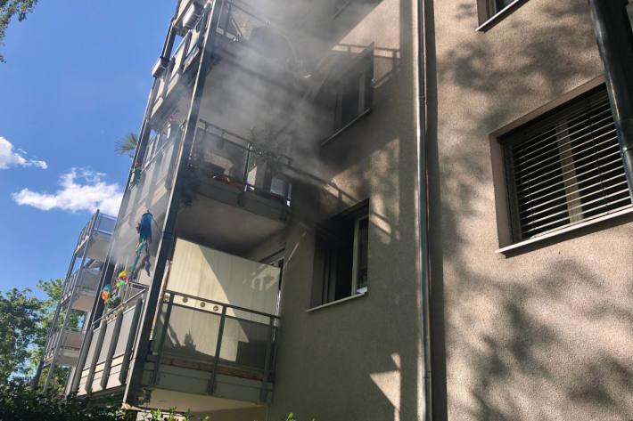 Wohnungsbrand in einem Mehrfamilienhaus in Kreuzlingen