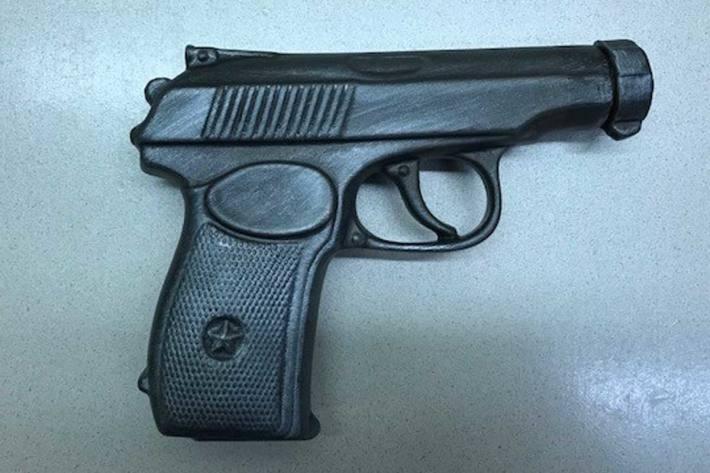 Die Polizei stellte in Wien die falsche Pistole sicher