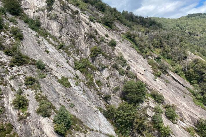 Unfall in der Kletterwand bei San Vittore GR.