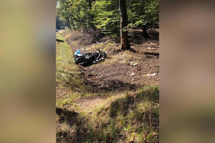 Verkehrsunfall mit schwerverletzter Motorradfahrerin in Waldleiningen