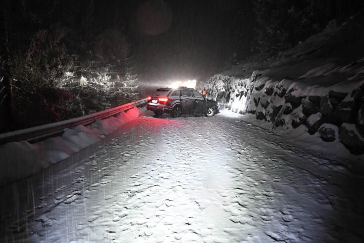 Unfallsituation auf der Arosastrasse in Chur