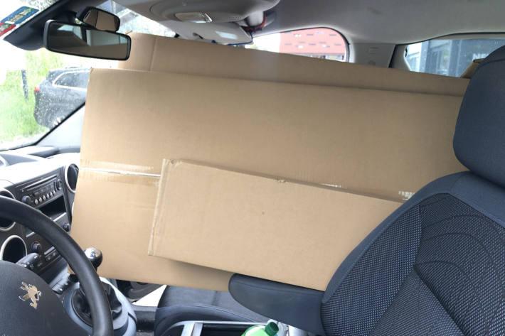 Der Autofahrer führte in St. Gallen eine grössere Menge Karton im Auto mit sich