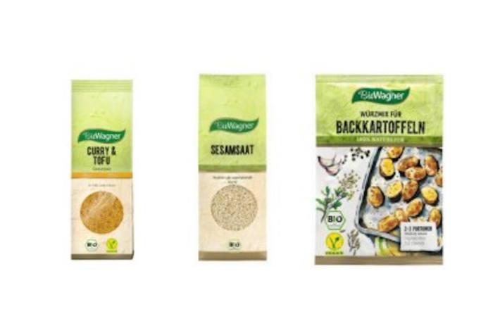 Bild der betroffenen Produkte der Marke BioWagner