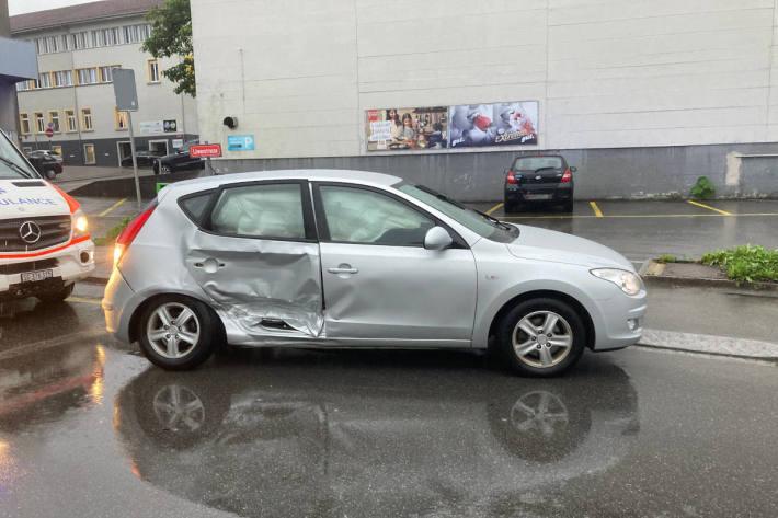 Unfallfahrzeug in Rorschach SG