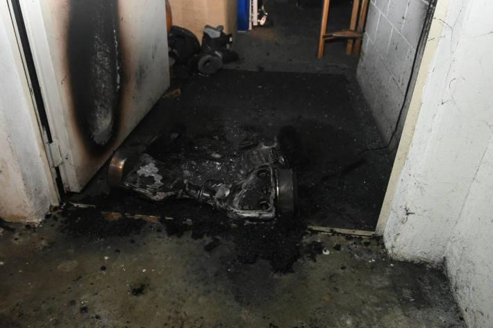 Brand wegen technischem Defekt in Eschen