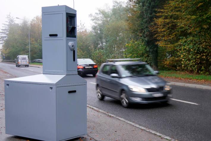 Symbolbild – teilstationäre Geschwindigkeitsmessung