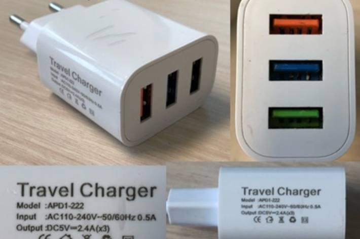 Dringender Rückruf des USB-Ladegerät Travel Charger.