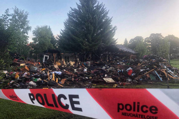 Das Ferienhaus wurde komplett zerstört.