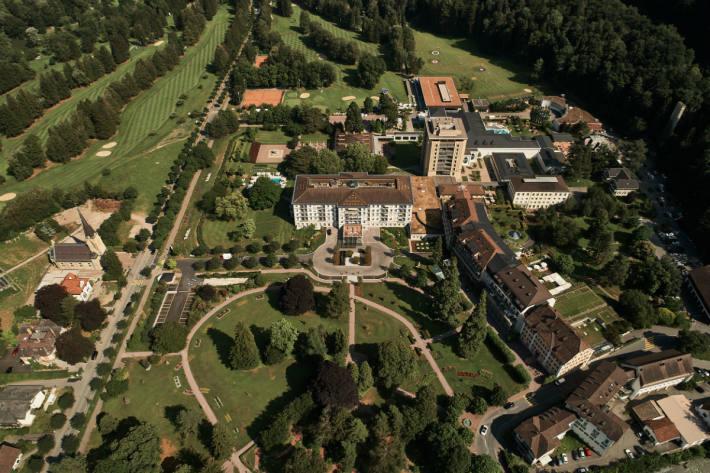 Luftaufnahme des Grand Resort Bad Ragaz