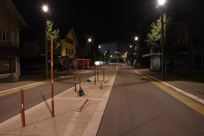Nach Selbstunfall geflüchtet  in Widnau
