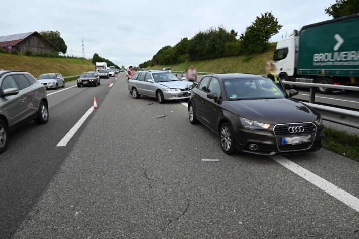 In Niederwil SG gab es heute morgen zwei Unfälle auf der Autobahn A1.