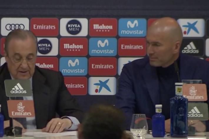 Zinedine Zidane tritt bei Real zurück.
