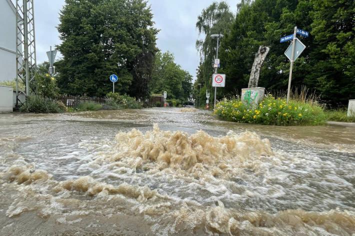 Überflutete Straßen in Bochum