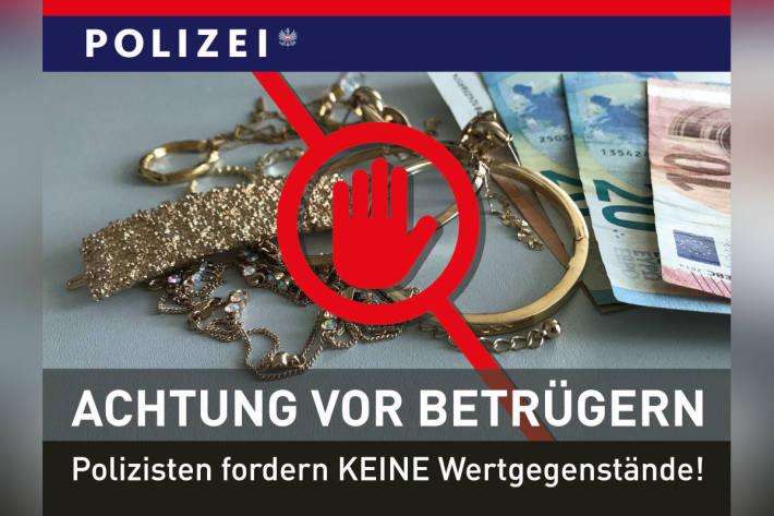 Achtung vor Betrügern in Wien – Polizisten fordern KEINE Wertgegenstände