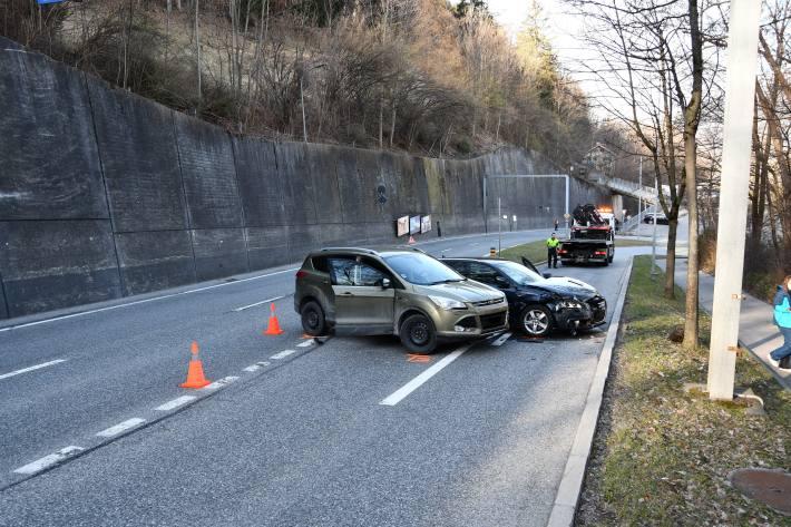 Unfallstelle auf der Malixerstrasse in Chur