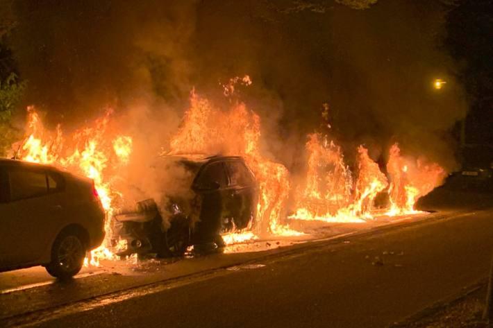 Dieser Brand in Luzern entstand durch Brandstiftung am 13.8.2020.