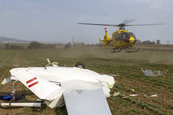 Segelflugzeug bei Gneixendorf abgestürzt