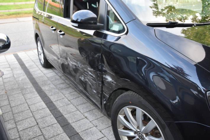 Unfallfahrzeug in Gamprin