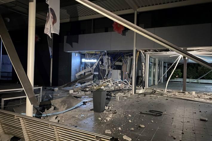Diese Nacht wurde in Nussbaumen AG ein Bankomat gesprengt.