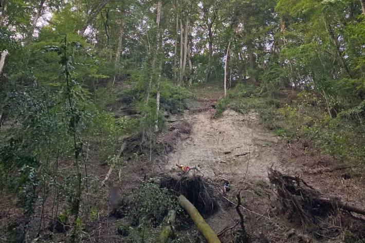 Der Mountainbiker musste in Warth-Weiningen aufgrund des schwer zugänglichen Geländes mittels Helikopter gerettet werden